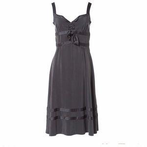 Marc Jacobs Anthracite 100% silk midi dress